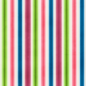 Stripes 80 Paper - Green, Pink & Blue