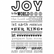 Joy to the World Word Art