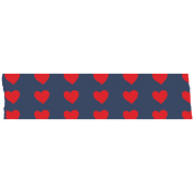 Like This Tape- Blue With Read Hearts