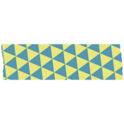 Like This Tape- Yellow With Blue Triangles