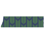 Like This Tape- Dark Blue With Green Arrow Fins