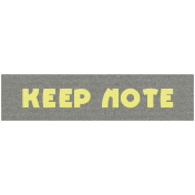 Like This Kit- Label Keep Note