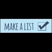 Like This Kit- Label Make A List