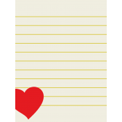 Like This Journal Card- Heart