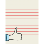 Like This Journal Card- Thumbs Up