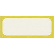 Like This Tag- Yellow Rectangle