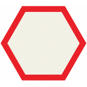 Like This Tag- Red Hexagon