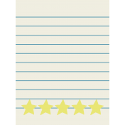 Like This Journal Card- Stars