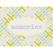 Lake District Journal Card- Memories