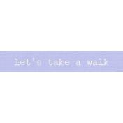 Lake District Label- Let's Take A Walk