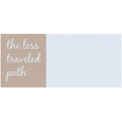 Lake District Label- The Less Traveled Path