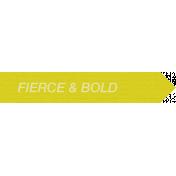 Lake District Label- Fierce & Bold