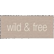 Lake District Label- Wild & Free