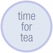 Lake District Label- Time For Tea