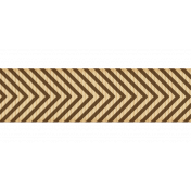 Fat Ribbon- Chevron- Brown