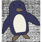 Winter Plaid- Penguin