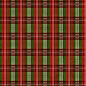 Winter Plaid- Green & Red Plaid Paper