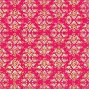 Damask Paper- Pink & Gold