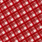 Winter Plaid- Red Plaid Paper- Diagonal