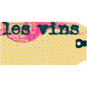 French Wine Tag
