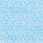 Kiss- Damask Paper- Blue