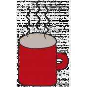 Winter Plaid- Red Mug