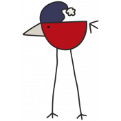 Winter Plaid- Red Bird