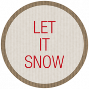 Winter Plaid Label- Let it Snow