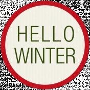 Winter Plaid Label- Hello Winter