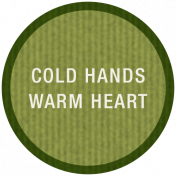 Winter Plaid Label- Cold Hands Warm Heart