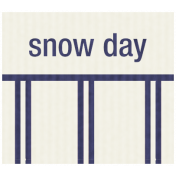 Winter Plaid Label- Snow Day