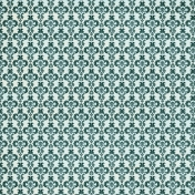 Damask 22 Paper - Teal & Blue