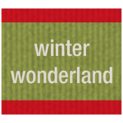 Winter Plaid Label- Winter Wonderland