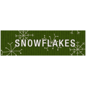 Winter Plaid Label- Snowflakes