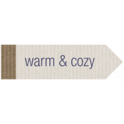 Winter Plaid Label- Warm & Cozy