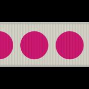 Ribbon 17- Tan & Pink