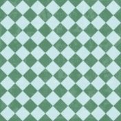 Argyle 02 Paper- Blue & Teal Paper