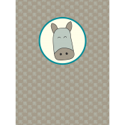 Chinese New Year Zodiac Journal Card- Horse