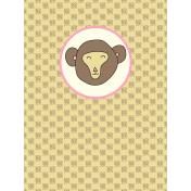 Chinese New Year Zodiac Journal Card- Monkey