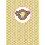 Chinese New Year Zodiac Journal Card- Monkey