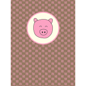 Chinese New Year Zodiac Journal Card- Pig