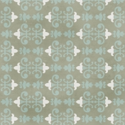 Damask Paper 2- Gray & Blue