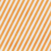 Stripes 89- Orange & White