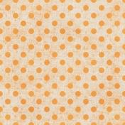 Polka Dots Paper 35- Orange & White