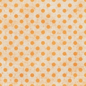 Polka Dots Paper 35- Orange & White