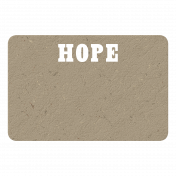 Hope Chipboard Tag