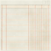 Notebook Paper 11- Orange & Brown
