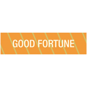Chinese New Year Label- Good Fortune