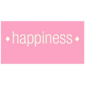 Chinese New Year Label- Happiness