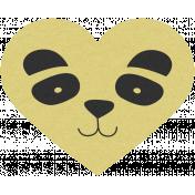 Chinese New Year Panda Heart